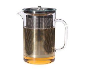 Teekanne Pisa 1,2 l mit Edelstahlfilter und Glasdeckel - Trendglas Jena