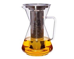 Teekanne Mora 1,5 l mit Edelstahlfilter und Flachdeckel - Trendglas Jena