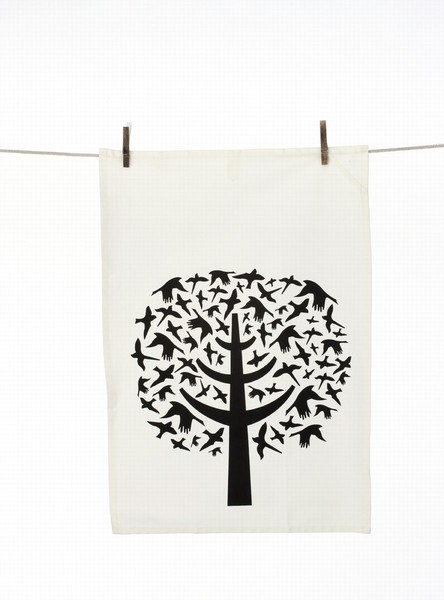 Ferm Living Bird Leaves Tea Towel Von Ferm Living Avocadostore