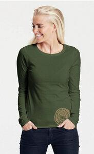 "Bio-Damen-Langarmshirt ""Blumen"" - Peaces.bio - Neutral® - handbedruckt"