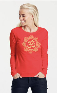 "Bio-Damen-Langarmshirt ""classic OHM"" - Peaces.bio - Neutral® - handbedruckt"