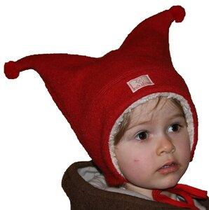 "Warme Kindermütze ""Lilo"" aus Bio-Wollwalk rot oder blau - Pickapooh"