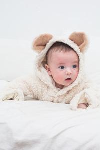 Baby Plüschoverall - Pünktchen Komma Strich