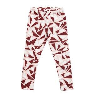 'Spark Leggings' burgunder-weiß für Mädchen  - Nosh organics