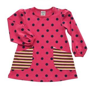 Tunika 'Polka Dots' pink-schwarz von Nosh organics - Nosh organics