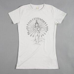 Women T-Shirt GUAN YIN hellgrau - MR. NELSON ecowear