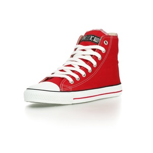 Fair Trainer Hi Cut Classic Cranberry Red | Just White - Ethletic