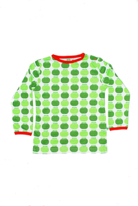 Langarm-Shirt 'Apples' weiß-grün-rot für Jungen und Mädchen - Sture & Lisa
