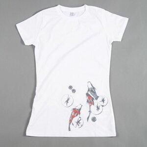 Women T-Shirt KOI POND weiß - MR. NELSON ecowear