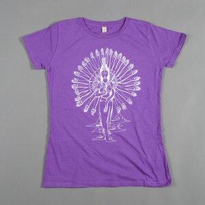 Women T-Shirt GUAN YIN lila - MR. NELSON ecowear