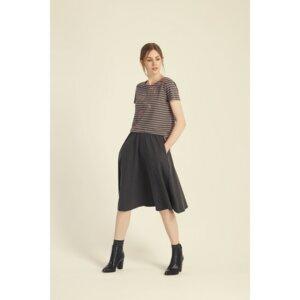 Gabrielle Jersey Skirt in Dark grey melange - People Tree