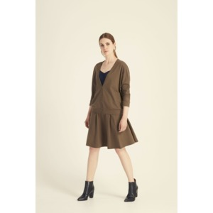 Evonne Cardigan in Khaki - People Tree