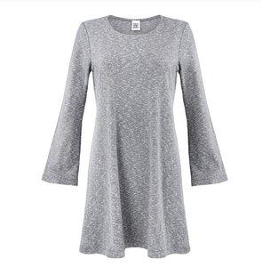 Kleid HATI RIB grey melange - JAN N JUNE
