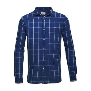Checked Shirt Total Eclipse - KnowledgeCotton Apparel