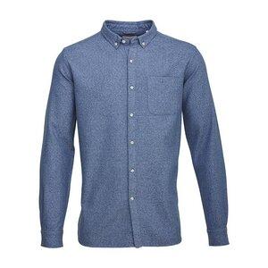 Twill Melange Shirt Total Eclipse - KnowledgeCotton Apparel