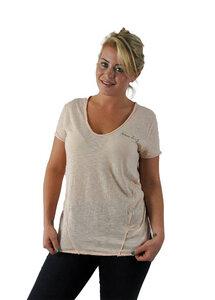 Leichtes Damen Shirt mit ungesäumten V-Ausschnitt - Human Family