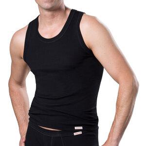 Herren Unterhemd  Shirt 100% Bio Baumwolle Schwarz oder Weiß - Conta