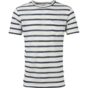 Striped Slope Tee Star White - KnowledgeCotton Apparel