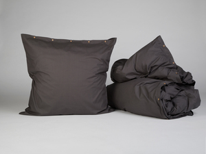 Bettwäscheset Perkal 300tc Dark Grey - Yumeko