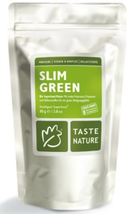 Slim Green, 80g Bio-Pulver - Taste Nature