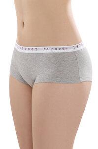 Fairtrade Hot Pants low cut, grau-melange - comazo|earth