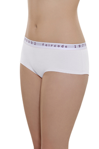 Fairtrade Hot Pants low cut, weiss - comazo|earth