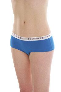 Fairtrade Hot Pants low cut, blue - comazo|earth