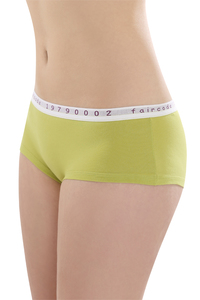 Fairtrade Hot Pants low cut, kiwi - comazo|earth