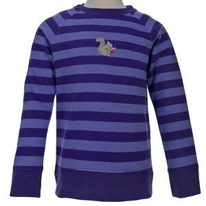 Kinder Sweatshirt violett geringelt kbA Baumwolle People Wear Organic - People Wear Organic