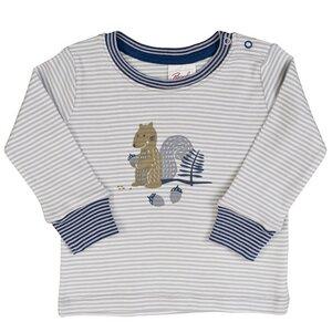 Baby LA Shirt Print grau geringelt Bio Baumwolle - People Wear Organic
