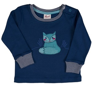 Baby LA Shirt Applikation blau Bio Baumwolle - People Wear Organic