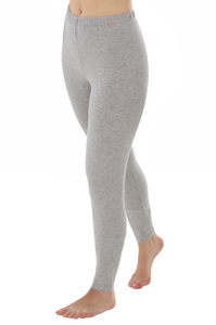 Fairtrade Leggings, grau-melange - comazo|earth