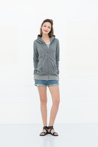 Edith Zipsweatcardigan - Grey Mulin - Miss Green