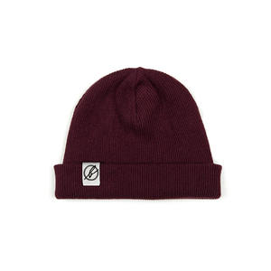 Beanie Dark Red Melange - bleed