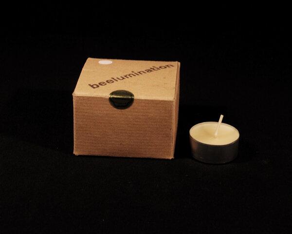beelumination 8 bienenwachs teelichter wei avocadostore. Black Bedroom Furniture Sets. Home Design Ideas