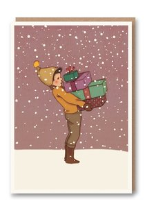 Weihnachtskarte Geschenke für Dich - 1973