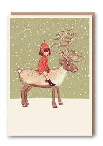 Weihnachtskarte Rentier - 1973