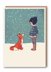 Weihnachtskarte Hallo Herr Fuchs! - 1973