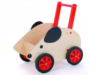 wunderschöne Schiebemaus Lauflernwagen  aus Holz Buche massiv - Bätz Holzspielwaren