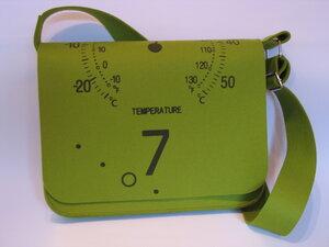 Umhängetasche / Laptoptasche Temperatur, Grün - VIA Werkstätten
