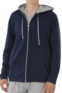 Fairtrade Jacke mit Kapuze, navy - comazo|earth