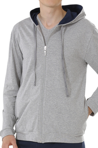 Fairtrade Kapuzenjacke, grau-melange - comazo|earth