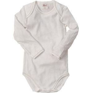 Baby Langarmbody weiß Bio Baumwolle - People Wear Organic