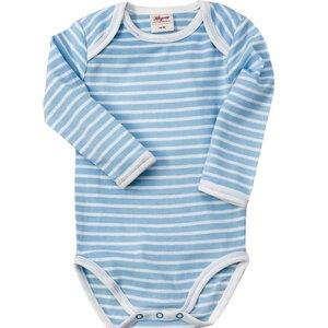 Baby Langarmbody blau-gestreift - People Wear Organic