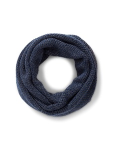 Rundschal Snood Alpaka - blue dark grey - Les Racines Du Ciel