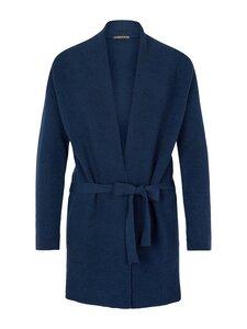 Short Cardigan - blue merino - Les Racines Du Ciel