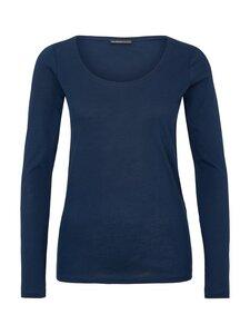 Round Neck Shirt Supima - blue - Les Racines Du Ciel