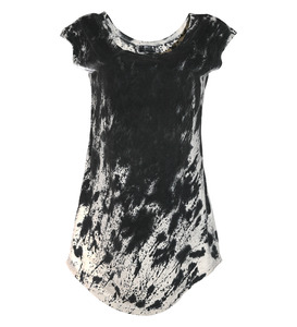 T-Shirt Kleid Sprenkel - Lena Schokolade