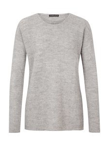 Round Neck Sweater Alpaka - light grey - Les Racines Du Ciel