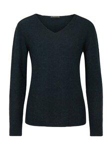 Alpaka Strickpullover V-Neck Sweater - dunkelgrün - Les Racines Du Ciel